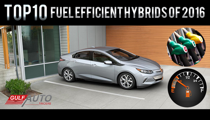 Top10 Most Fuel Efficient Hybrids of 2016